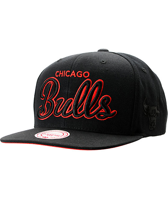 NBA Mitchell and Ness Chicago Bulls Blacked Out Snapback Hat  14815e9d01d