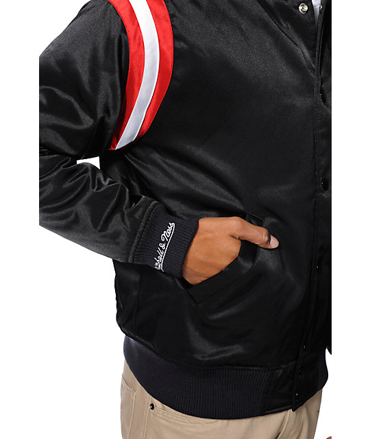 outlet store 38211 7bd8a ... NBA Mitchell and Ness Chicago Bulls Division Black Satin Jacket ...