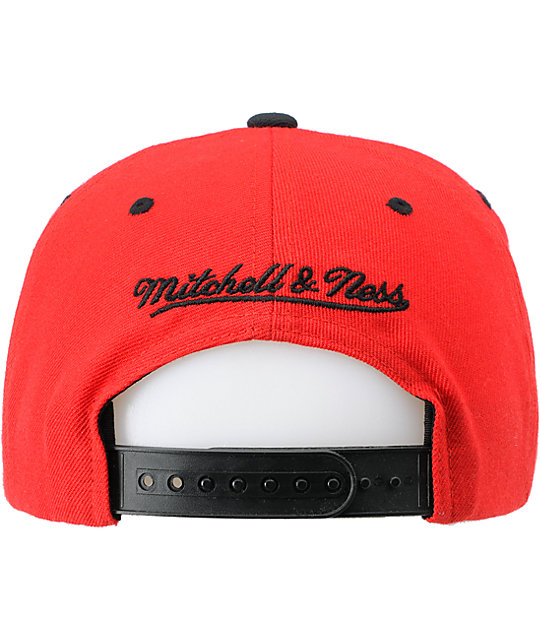 NBA Mitchell and Ness Chicago Bulls Red Arch Logo Snapback Hat