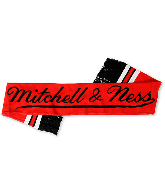 NBA Mitchell and Ness Chicago Bulls Red Knit Scarf