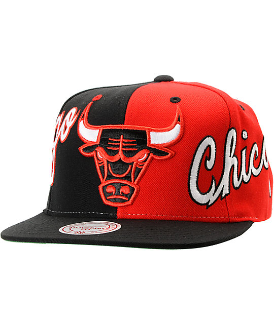 NBA Mitchell and Ness Chicago Bulls The Split Snapback Hat  72e4db26252