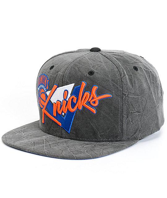 NBA Mitchell and Ness Crease Triangle Knicks Snapback Hat  14734069e09