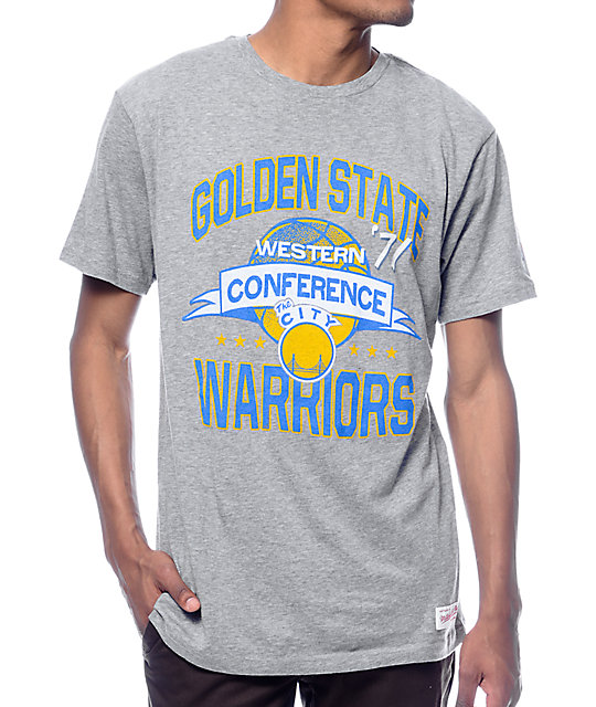 the latest 82c14 e1b1e NBA Mitchell and Ness Golden State Warriors Grey T-Shirt