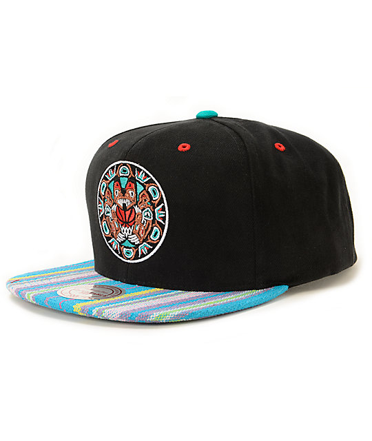 0c7d986f NBA Mitchell and Ness Grizzlies Native Stripe Snapback Hat | Zumiez