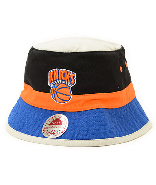 24a5e8294d NBA Mitchell and Ness Knicks Color Block Bucket Hat