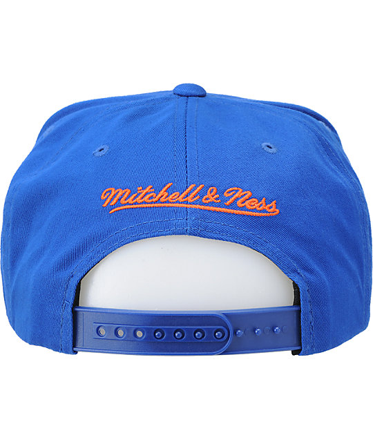 NBA Mitchell and Ness Knicks Script Snapback Hat