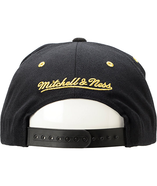 ad99680a61c ... NBA Mitchell and Ness LA Clippers Black   Gold Snapback Hat