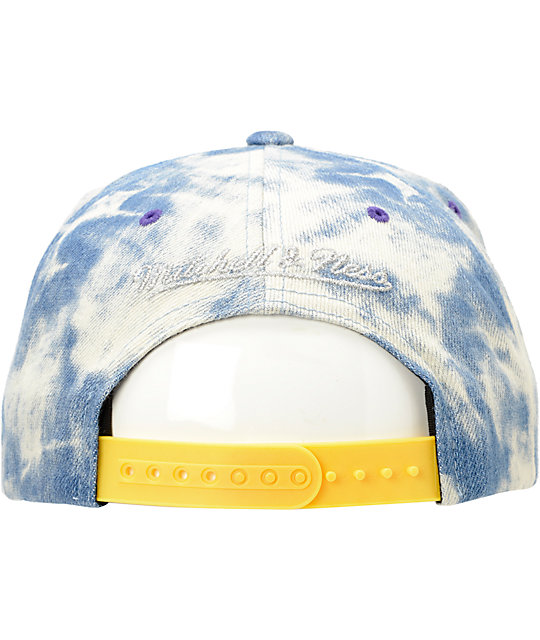 7fed5dd0fe7 ... NBA Mitchell and Ness Lakers Acid Wash Blue Snapback Hat ...