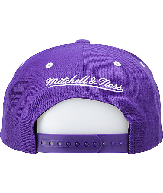 NBA Mitchell and Ness Los Angeles Lakers 2 Tone Snapback Hat
