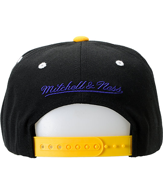NBA Mitchell and Ness Los Angeles Lakers Crackle Snapback Hat