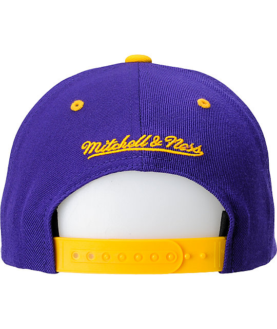 NBA Mitchell and Ness Los Angeles Lakers Snapback Hat