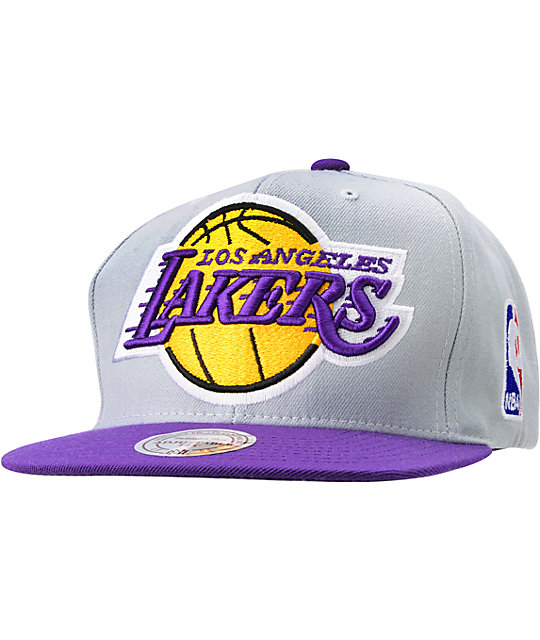 ff4a33c0dc424c NBA Mitchell and Ness Los Angeles Lakers Snapback Hat | Zumiez