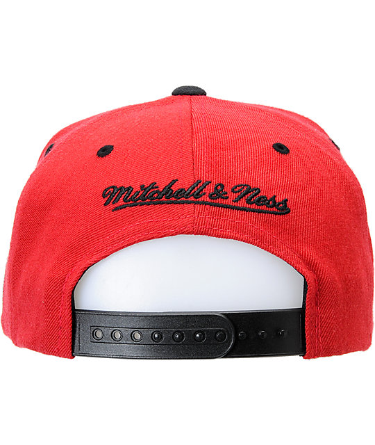 NBA Mitchell and Ness Miami Heat Red & Black Snapback Hat