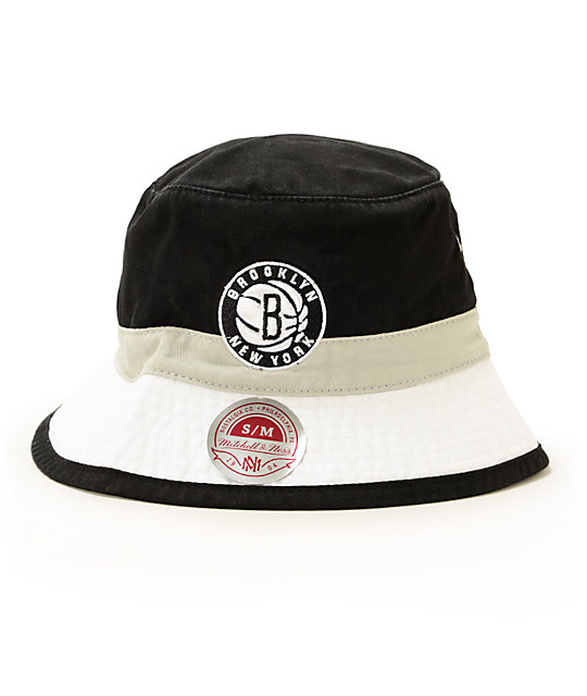 NBA Mitchell and Ness Nets Color Block Bucket Hat  b8d5cec2121