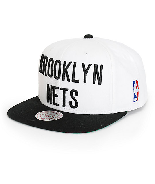 best sneakers 6bfcb b42d3 NBA Mitchell and Ness Nets XL Logo 2 Tone Snapback Hat   Zumiez