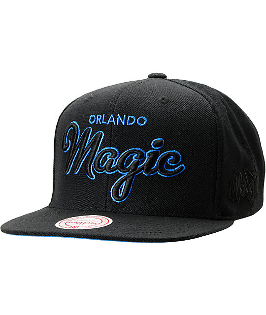 NBA Mitchell and Ness Orlando Magic Blacked Out Snapback Hat