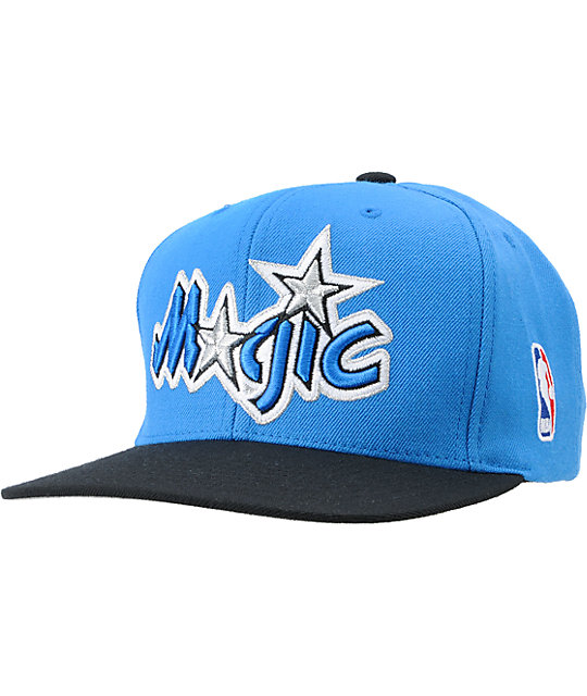 NBA Mitchell and Ness Orlando Magic Logo Blue Snapback Hat