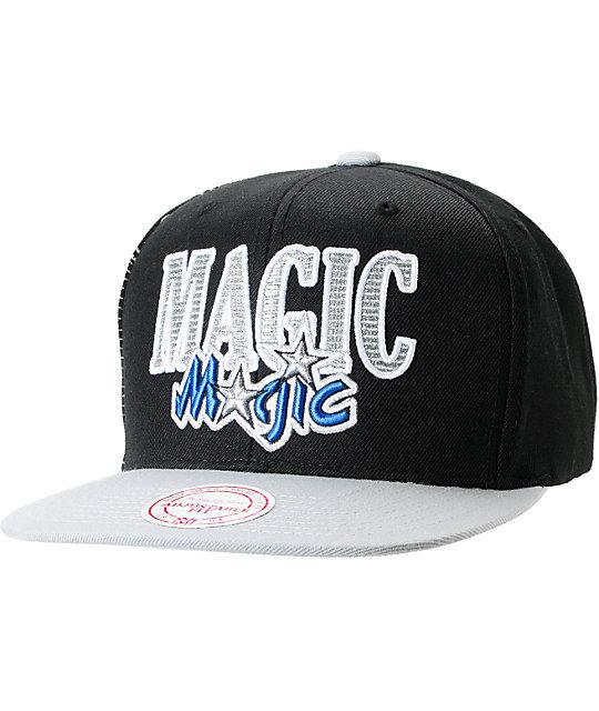huge discount 0efd5 10b54 NBA Mitchell and Ness Orlando Magic Side Logo Snapback Hat   Zumiez