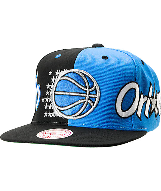meet 5bf2d ed8ea NBA Mitchell and Ness Orlando Magic The Split Snapback Hat   Zumiez