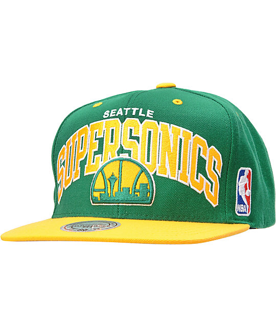 NBA Mitchell and Ness Seattle Sonics Arch Snapback Hat
