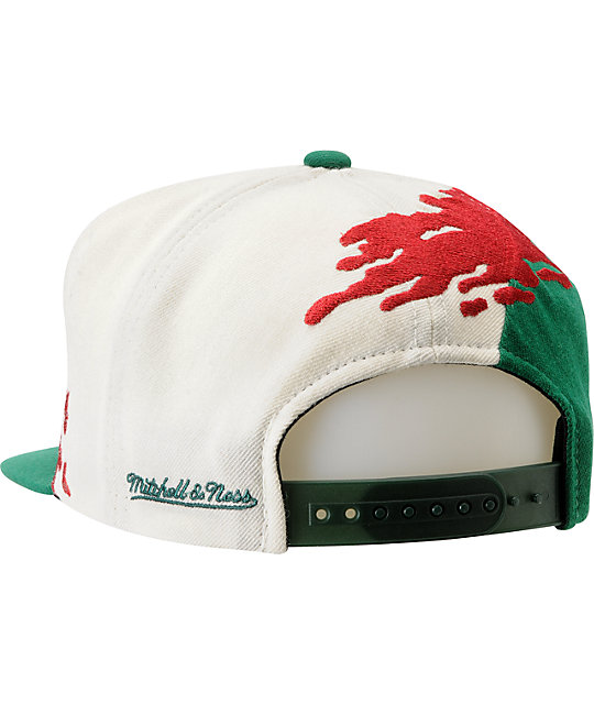 NBA Mitchell and Ness Seattle Sonics Paintbrush Snapback Hat