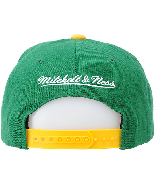 NBA Mitchell and Ness Seattle SuperSonics Vice Snapback Hat