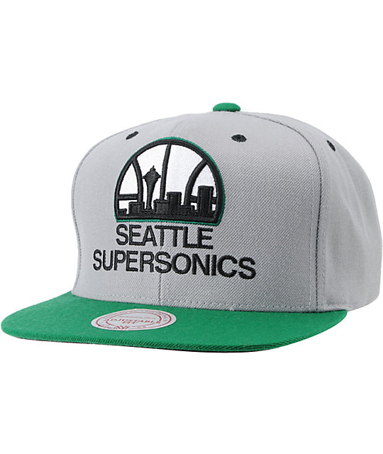NBA Mitchell and Ness Supersonics Arch Underbill Snapback Hat