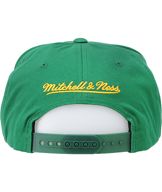 NBA Mitchell and Ness Supersonics Script Snapback Hat