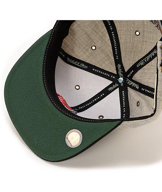 f8ead120cbb NBA Mitchell and Ness Trail Blazers Grey Wool 2Tone Strapback Hat ...