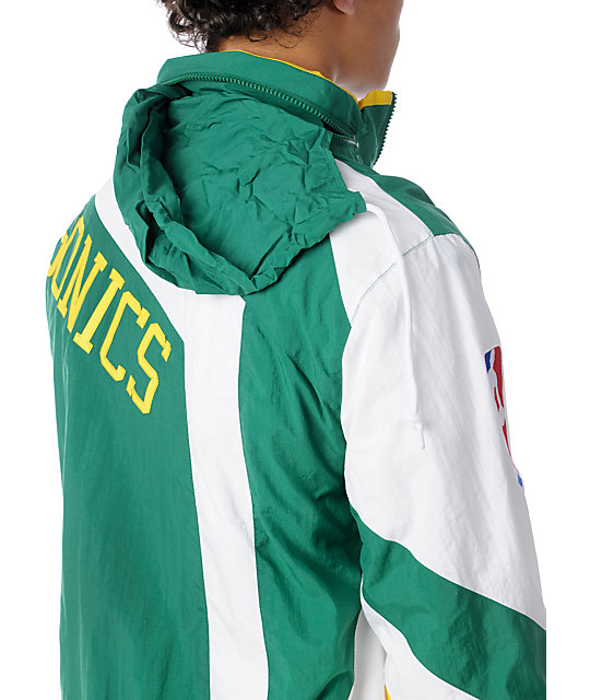 NBA Mitchell and Ness Vintage Seattle SuperSonics Windbreaker