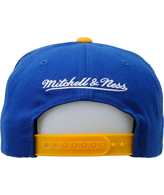 NBA Mitchell and Ness Warriors Vice Snapback Hat