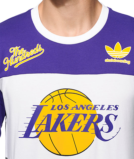 ... NBA adidas x The Hundreds Lakers Long Sleeve T-Shirt ... a6a389d22