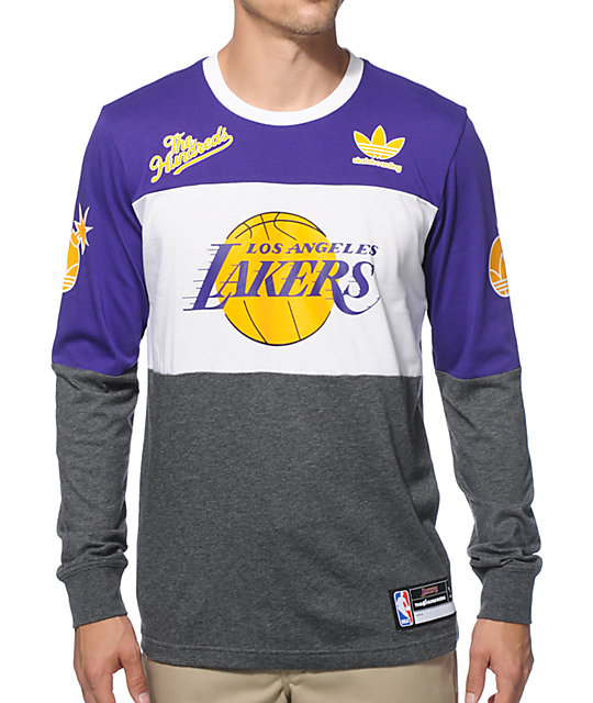 NBA adidas x The Hundreds Lakers Long Sleeve T-Shirt  9773a2629