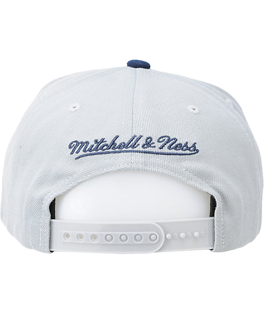 NCAA Mitchell and Ness Georgetown Grey XL Snapback Hat