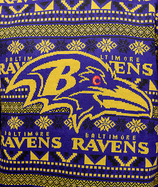 245f21e3973 ... NFL Forever Collectibles Baltimore Ravens Aztec Ugly Sweater ...