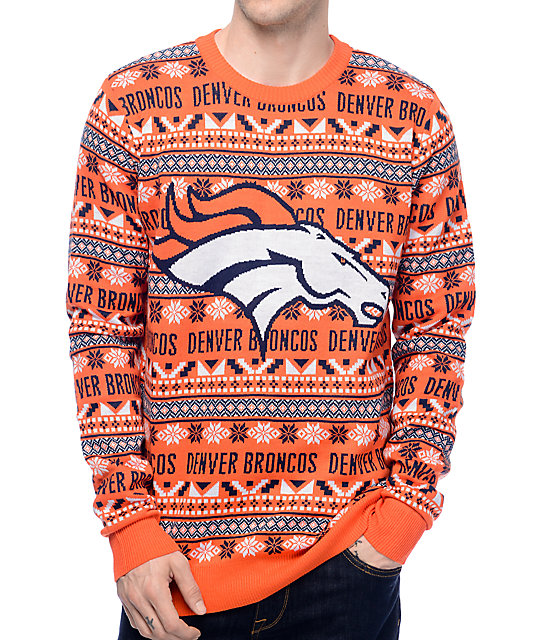 competitive price 586ae c374e NFL Forever Collectibles Broncos Aztec Ugly Sweater