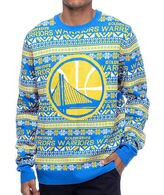 new arrival bb4bd 4e070 NFL Forever Collectibles Warriors Aztec Ugly Sweater