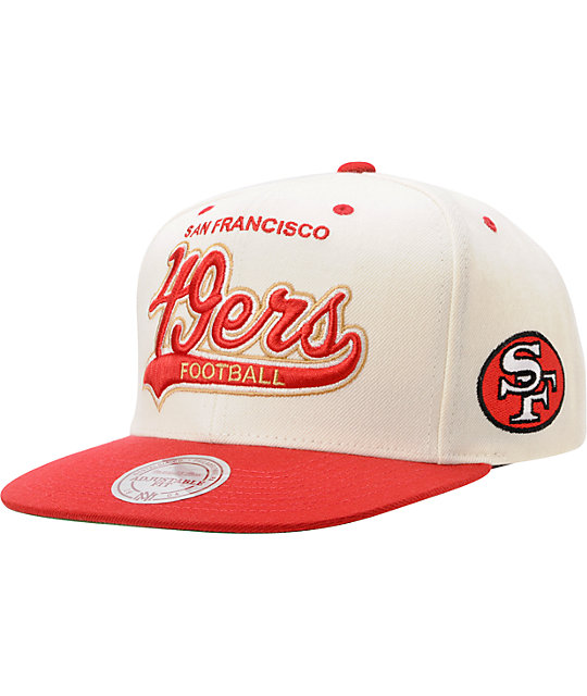 f1630ba0 NFL Mitchell & Ness San Francisco 49ers Tailsweeper Snapback