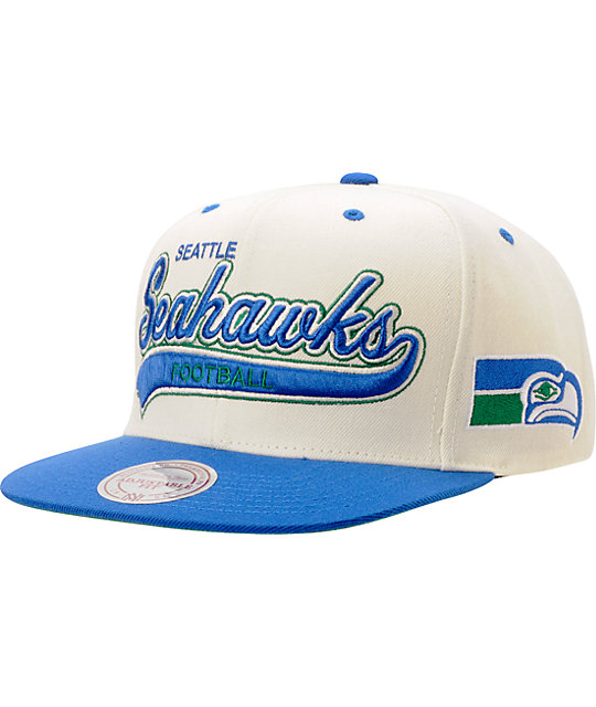 2a4fe2f3a9bfd NFL Mitchell   Ness Seattle Seahawks Tailsweeper Snapback Hat