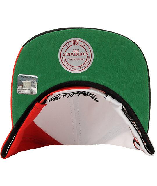 super popular abd0a bf039 NFL Mitchell And Ness Atlanta Falcons Skew Snapback Hat
