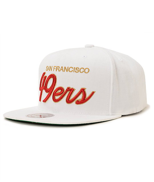 b51c4f0e97d ... italy nfl mitchell and ness 49ers all white snapback hat 3c685 009ae  france san francisco 49ers team colors the ...