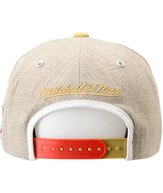 NFL Mitchell and Ness 49ers Arch 2Tone Grey Snapback Hat