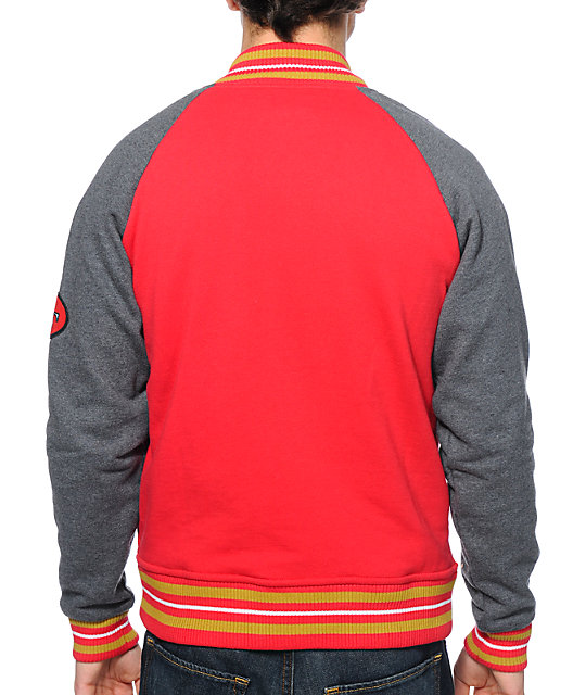 524a8b972 ... NFL Mitchell and Ness 49ers Backward Pass Red Jacket
