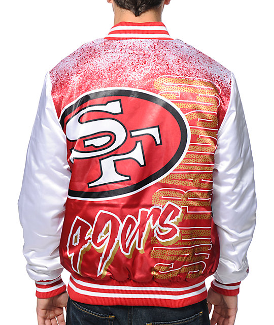 63cc11d964a ... NFL Mitchell and Ness 49ers Red Sublimated Jacket