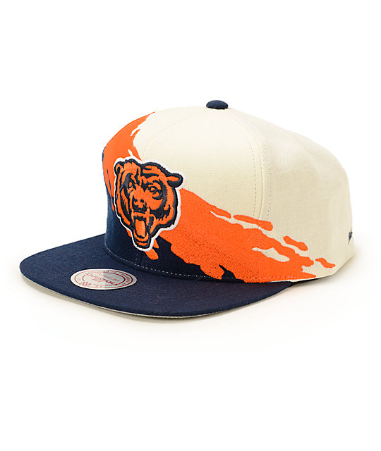NFL Mitchell and Ness Bears Paintbrush Snapback Hat  7d366837725