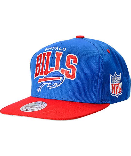 e4f058de9 NFL Mitchell and Ness Buffalo Bills Blue Snapback Hat | Zumiez