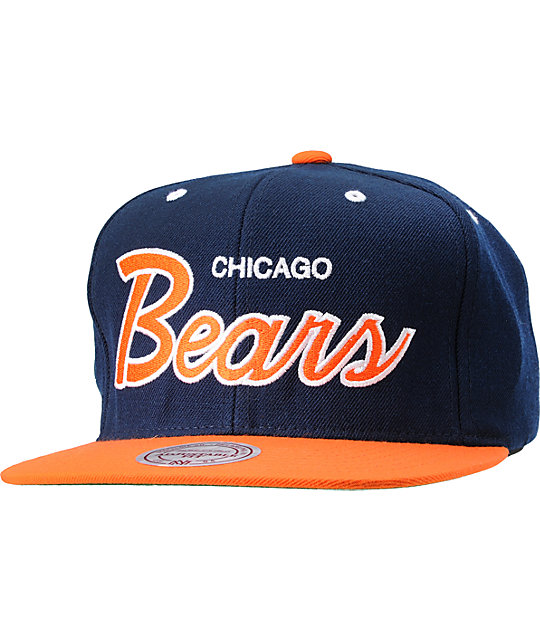 best website cd5b1 fea7c NFL Mitchell and Ness Chicago Bears Snapback Hat