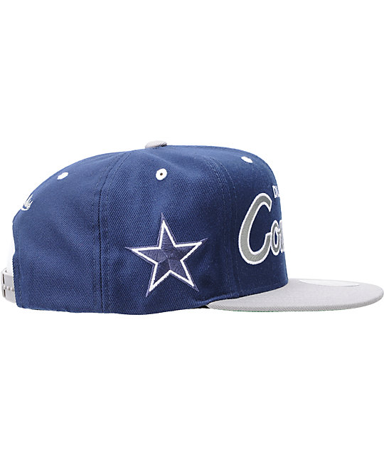 c4520f3005fdc9 NFL Mitchell and Ness Dallas Cowboys Logo Snapback Hat | Zumiez