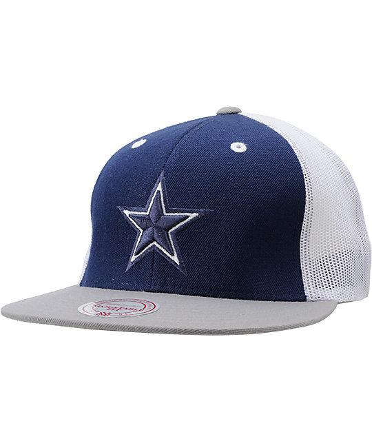 f00919c8 NFL Mitchell and Ness Dallas Cowboys Mesh Snapback Hat | Zumiez