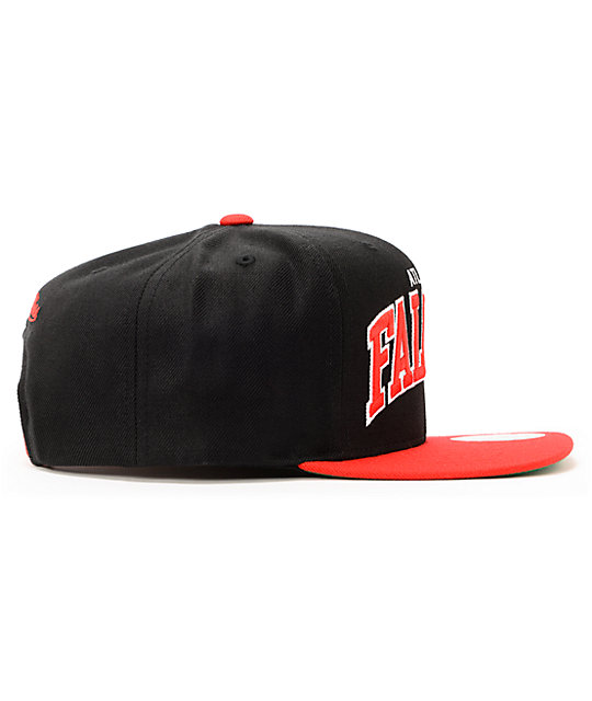 NFL Mitchell and Ness Falcons Arch Black 2Tone Snapback Hat
